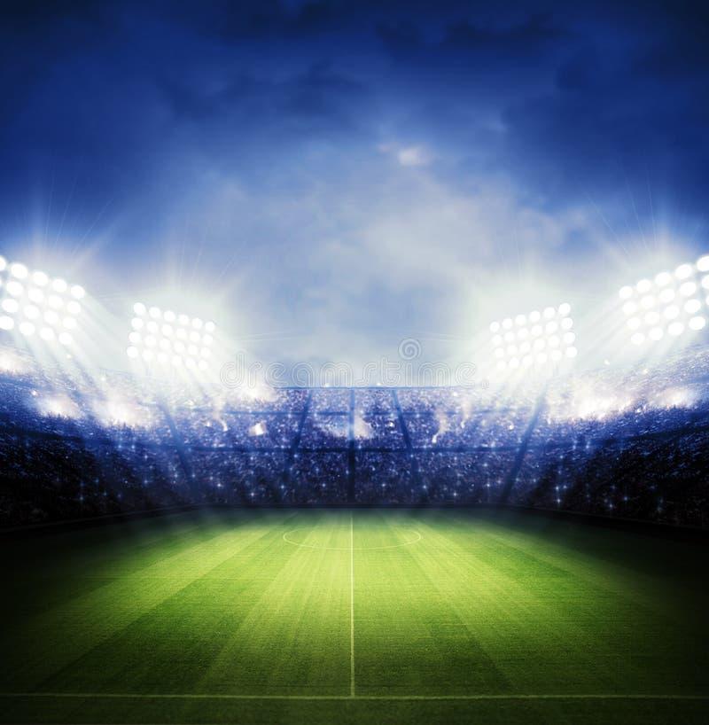 Stadium. The imaginary stadium is modelled and rendered stock illustration