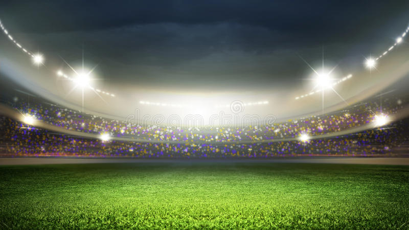 Stadium. The imaginary stadium is modelled and rendered royalty free illustration