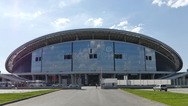 The Stadium Kazan-Arena. The objects of the Universiade in Kazan. stock images