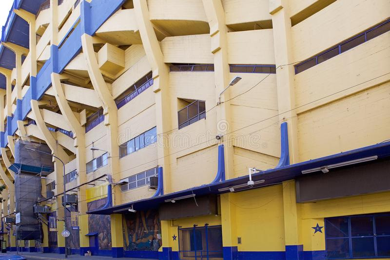 The stadium La Bombonera in La Boca, Buenos Aires, Argentina. The stadium La Bombonera in La Boca in Buenos Aires, Argentina. The stadium is owned by Boca Junior royalty free stock photos
