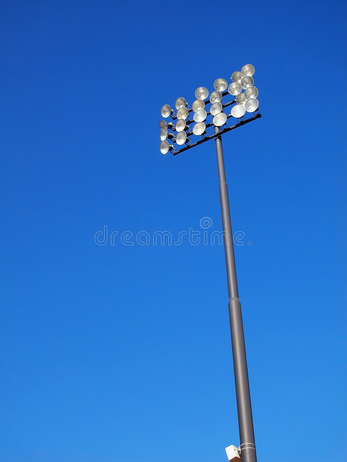 Download Stadium Lighting-Blue Sky stock image. Image of fluorescent - 4748907