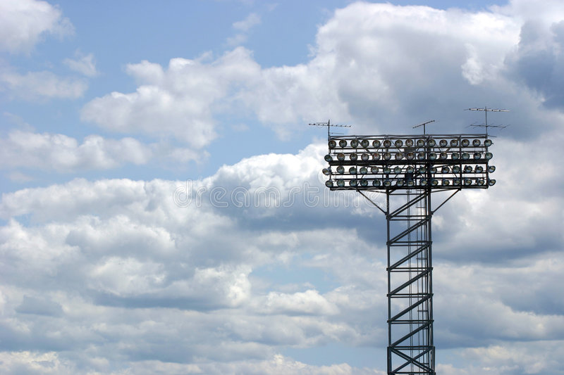 Download Stadium lights stock photo. Image of bulb, array, floodlights - 3191280