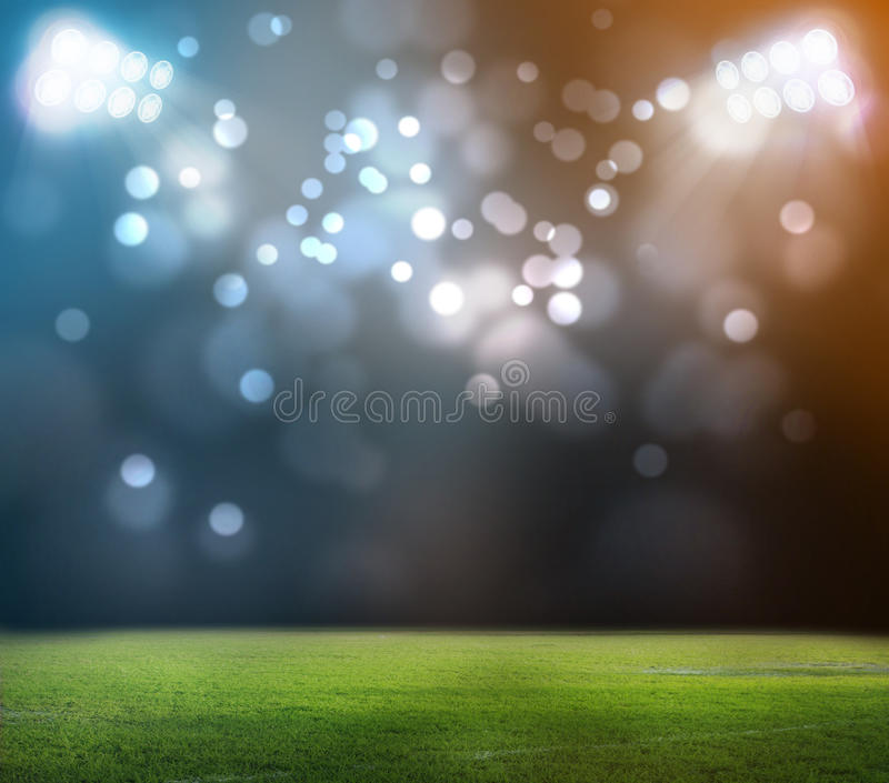 Stadium in lights. And flashes 3D rendering stock illustration