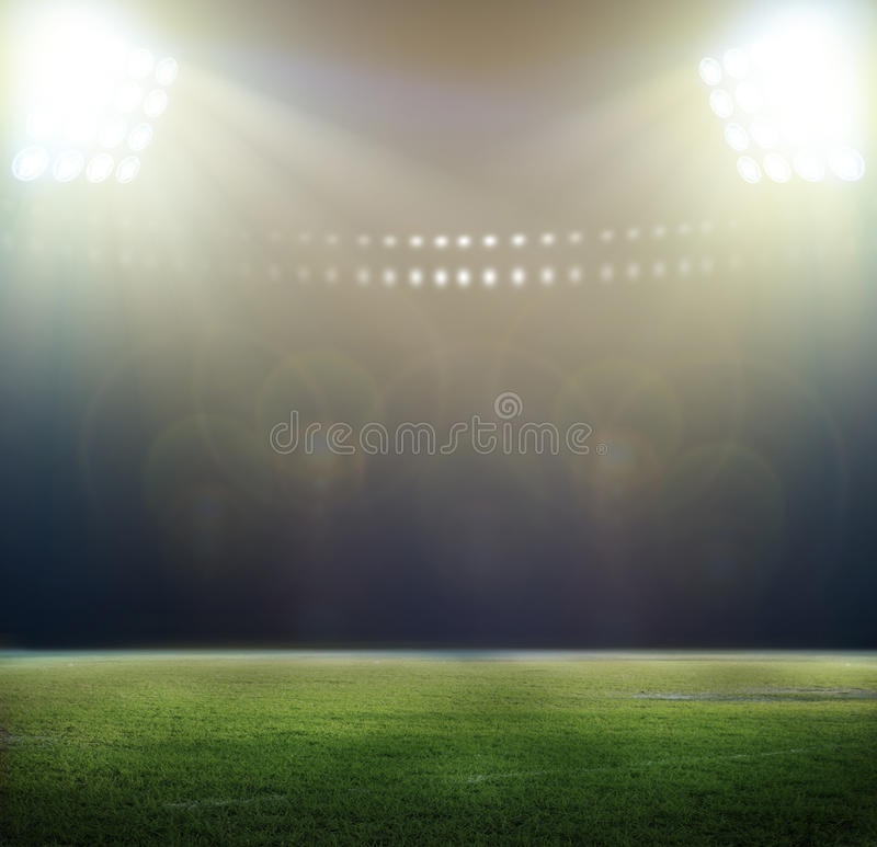 Stadium in lights. And flashes 3D rendering vector illustration