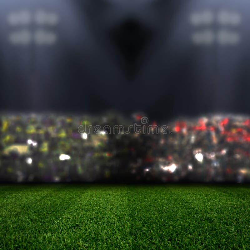 Stadium in lights stock photography