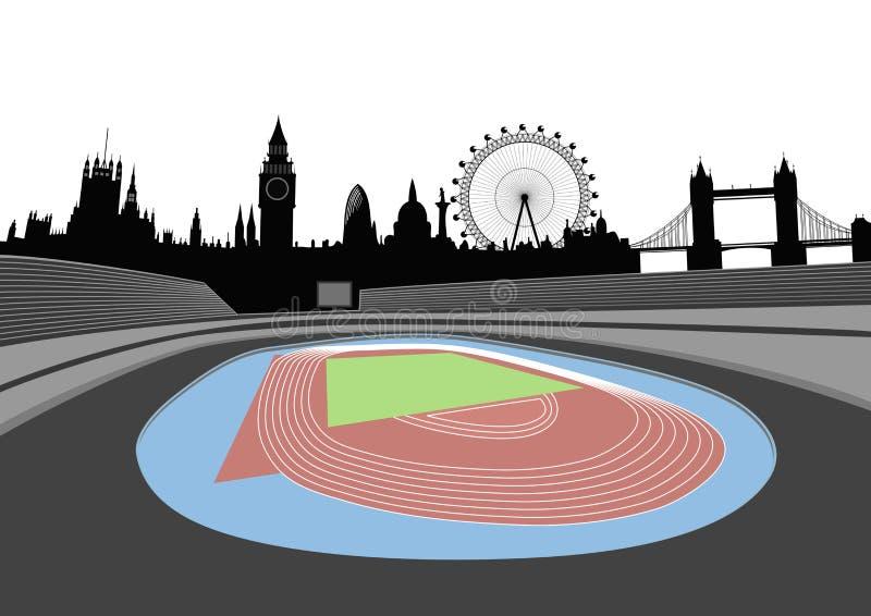 Stadium With London Skyline - Vector Stock Image