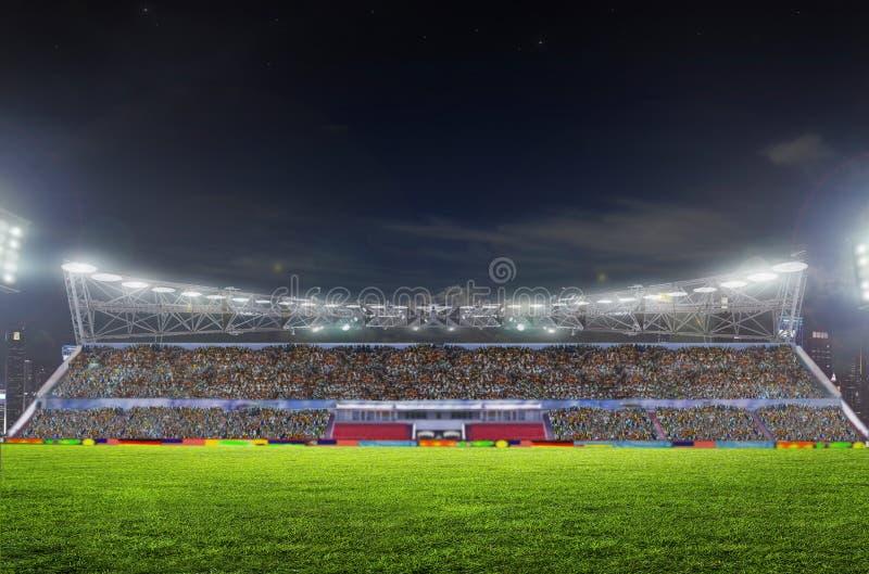 Stadium before the match stock photography