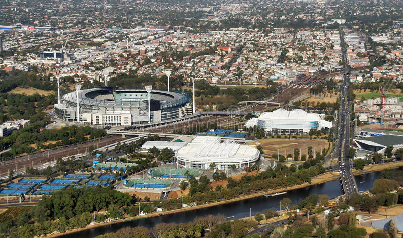 Download Stadium in Melbourne stock photo. Image of grand, vacated - 9405082