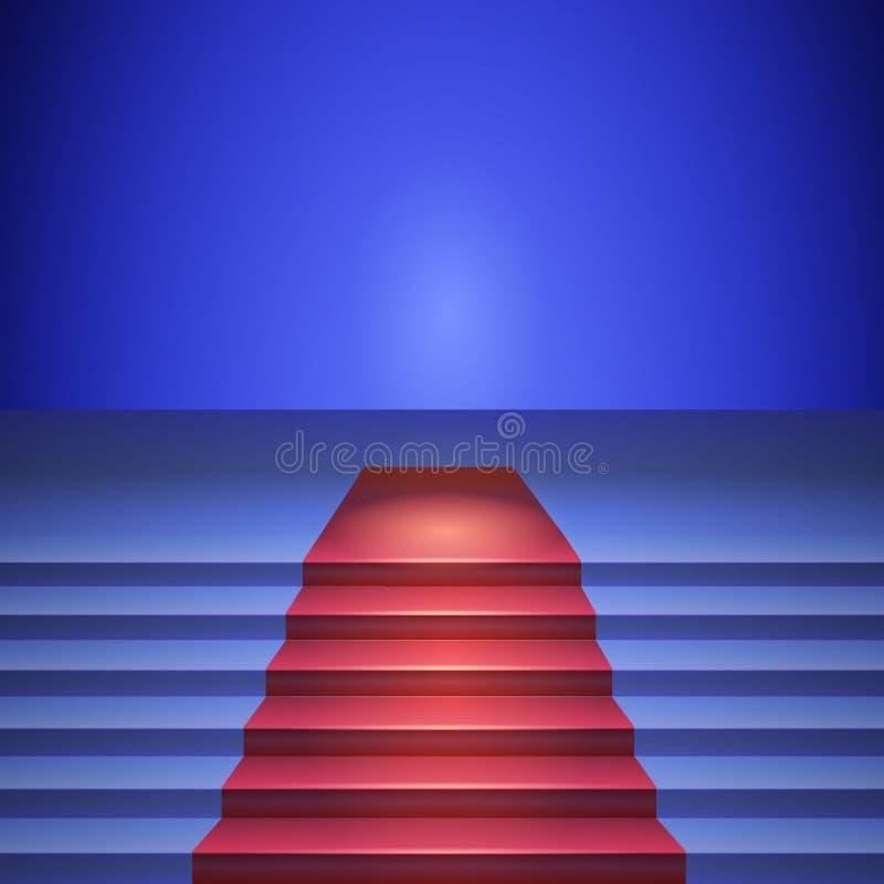 Stadium mit rotem Teppich, Stadium für Leistungen stock abbildung