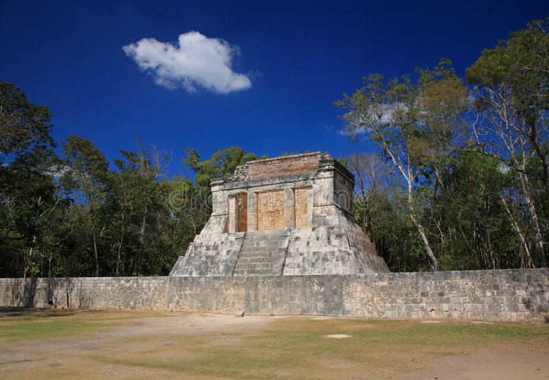 The Stadium Near Chichen Itza Temple Stock Photo