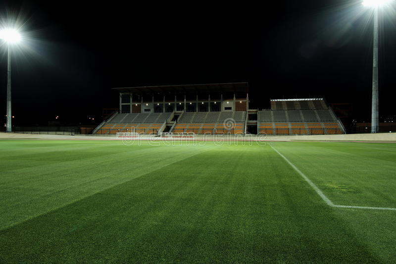 Stadium at night royalty free stock photos