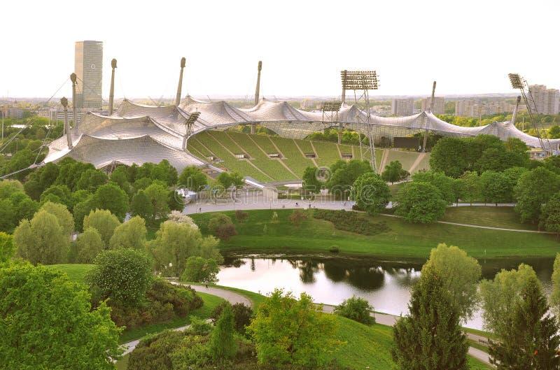 Stadium of the Olympiapark. stock photo