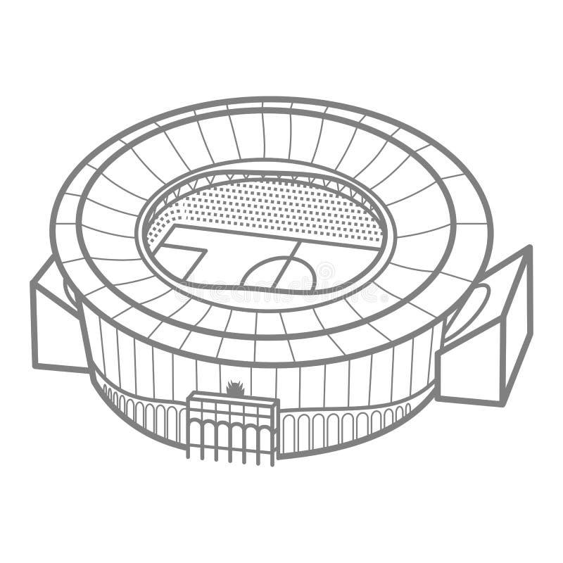 Stadium piłkarski barwiona ilustracja royalty ilustracja