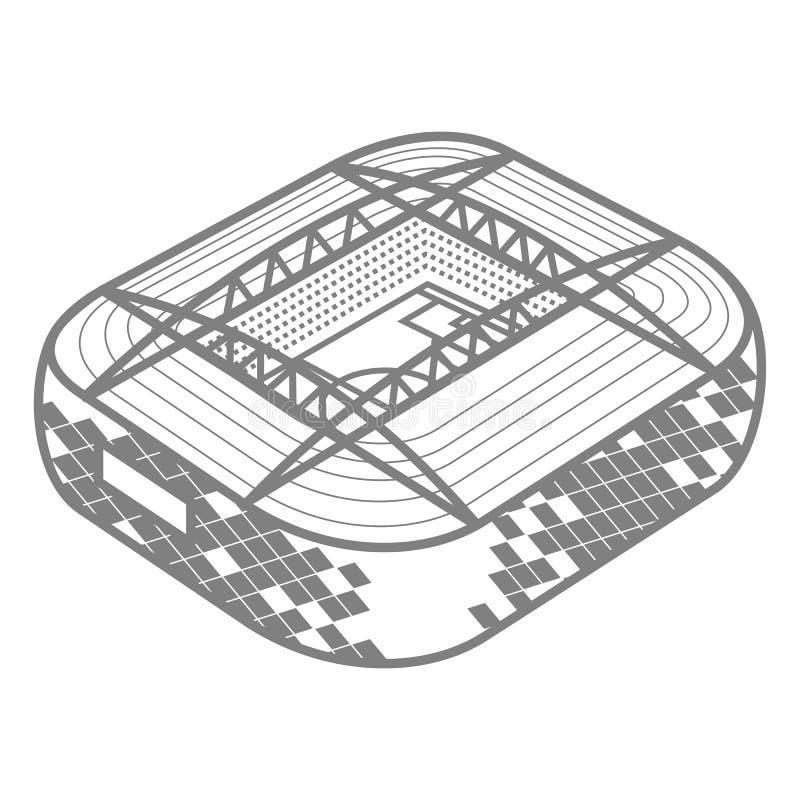 Stadium piłkarski barwiona ilustracja ilustracji