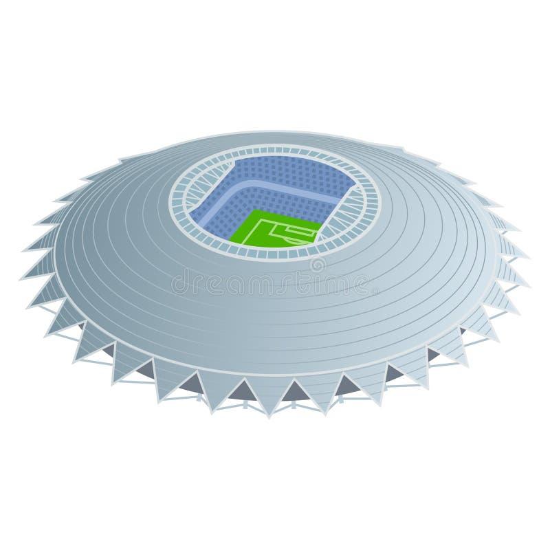 Stadium piłkarski barwiona ilustracja ilustracja wektor
