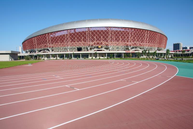 Stadium and playground. The stadium and playground of Shanxi Sports Center stock images