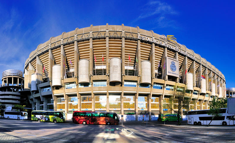 Stadium of Real Madrid, Spain stock images