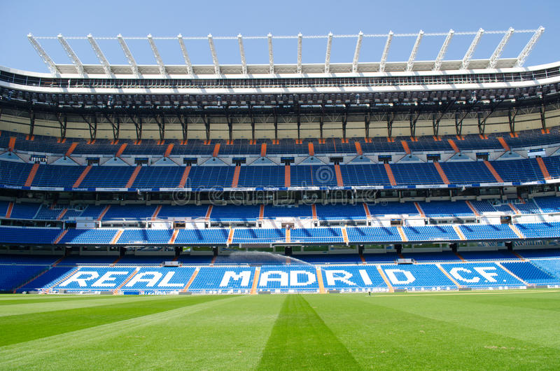 Stadium of Real Madrid Santiago Bernabeu. royalty free stock images