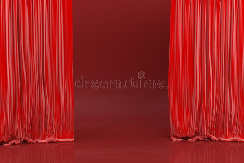 Stadium, rode schaduwen stock afbeelding
