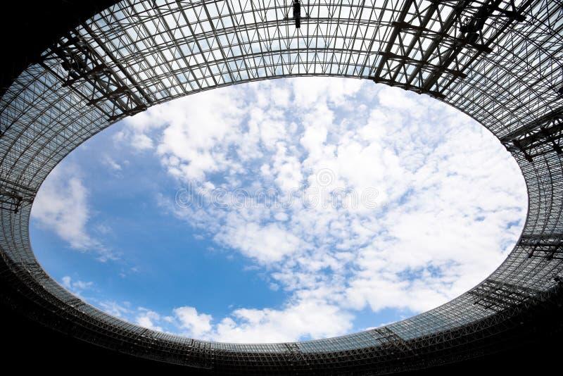 Stadium roof stock photo