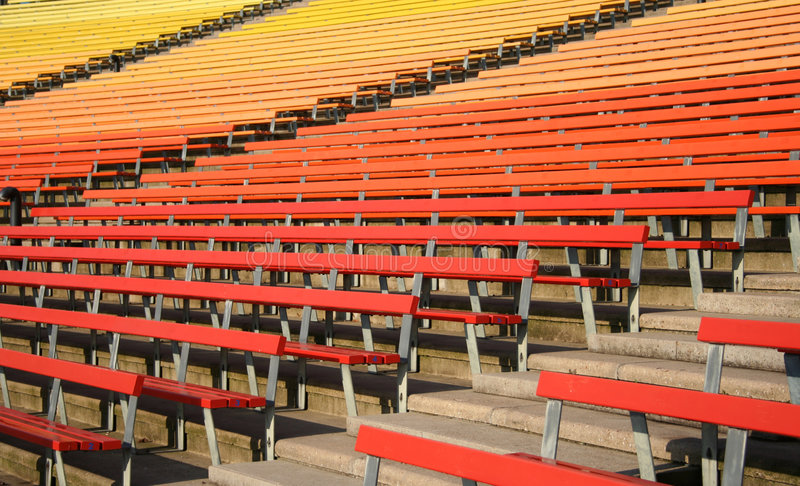 Download Stadium seating stock image. Image of benches, colourful - 1719935