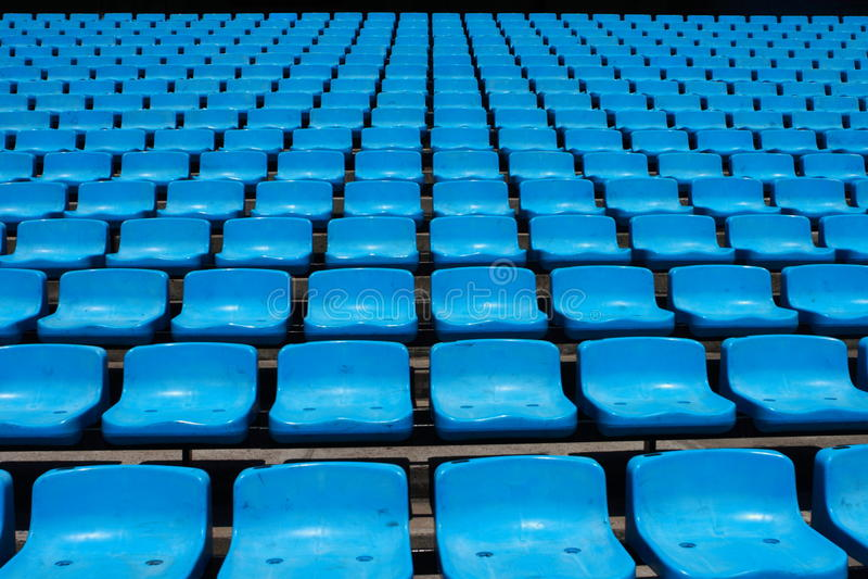 Stadium Seats royalty free stock photography