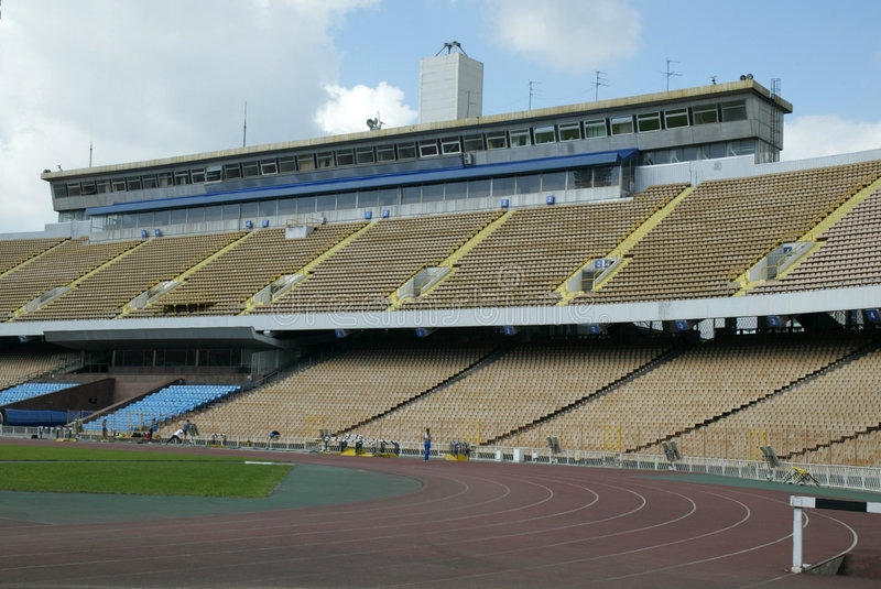 Stadium seats royalty free stock photos
