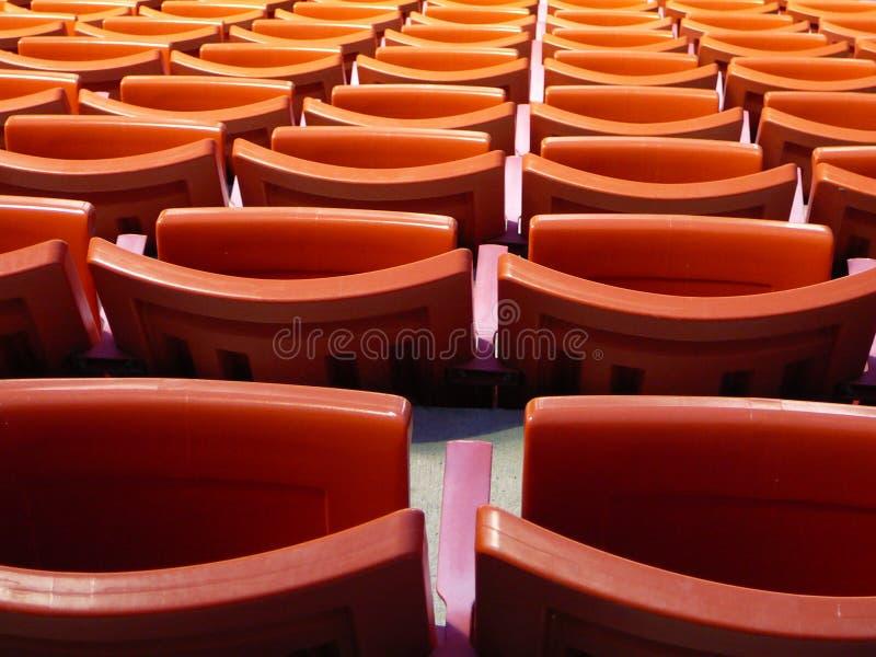 Stadium seats close-up stock photography
