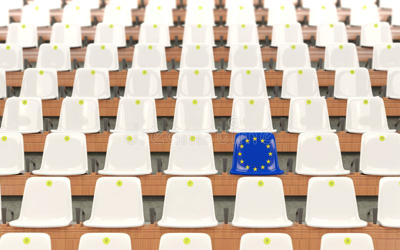 Stadium siedzenie z flaga europejski zjednoczenie royalty ilustracja