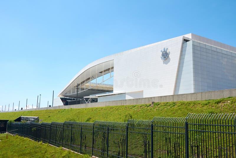 Stadium sport club corinthians paulista w Sao Paulo, Brazylia zdjęcie stock