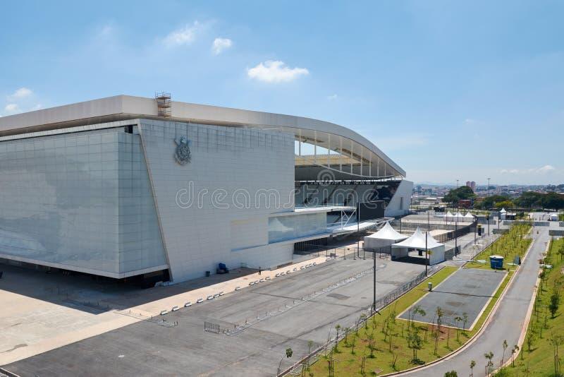 Stadium sport club corinthians paulista w Sao Paulo, Brazylia fotografia stock