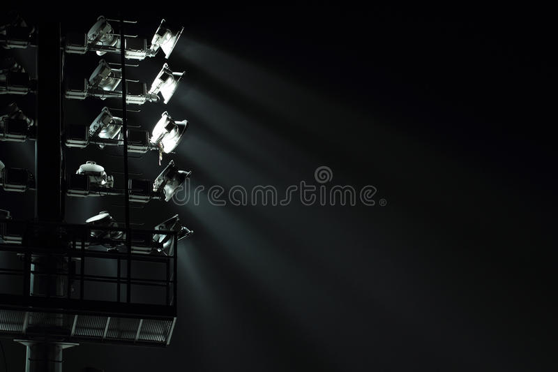Stadium Spot-light wierza obraz stock