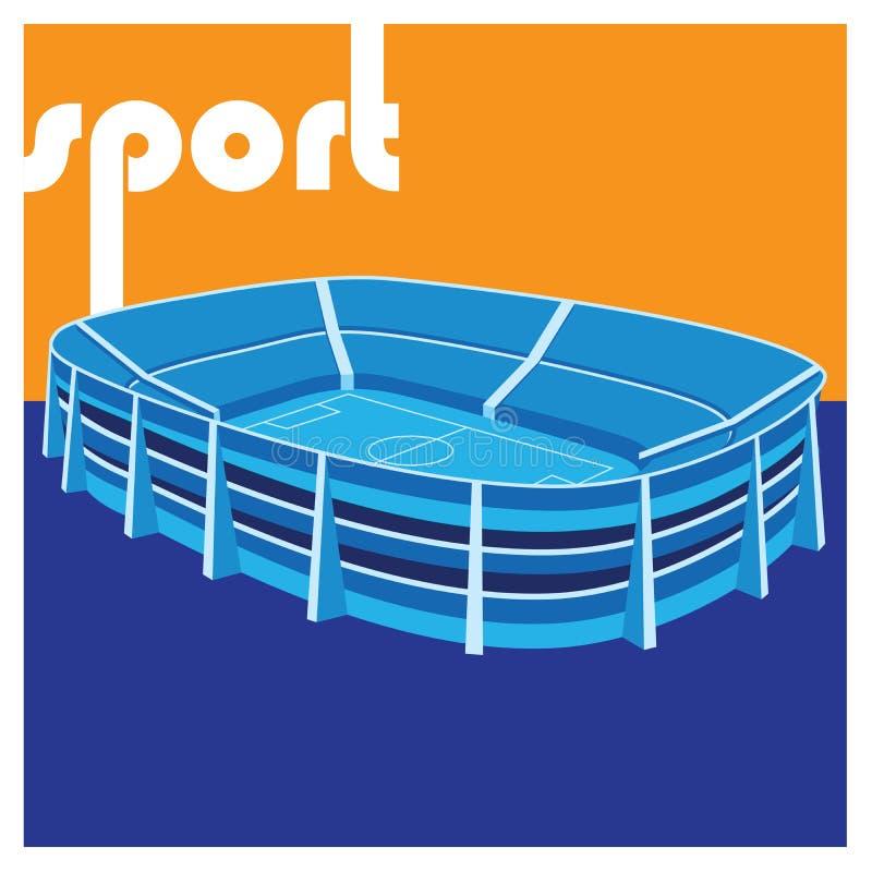Stadium. Stylized illustration on the theme of sport. stadium royalty free illustration