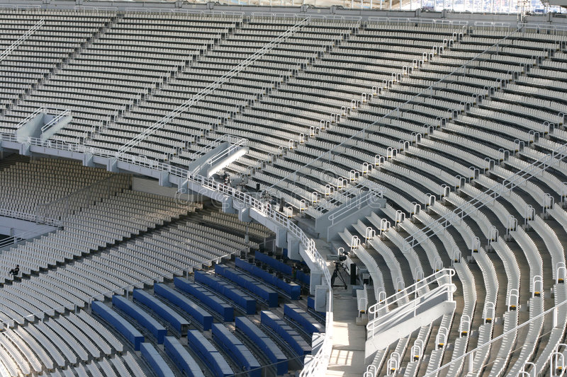 Download Stadium tiers stock photo. Image of chairs, white, camera - 5572294