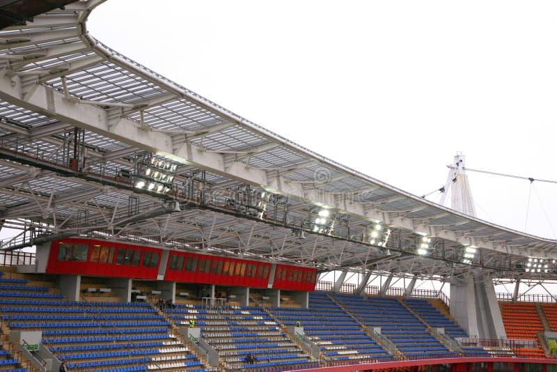 Stadium tribune stock photo