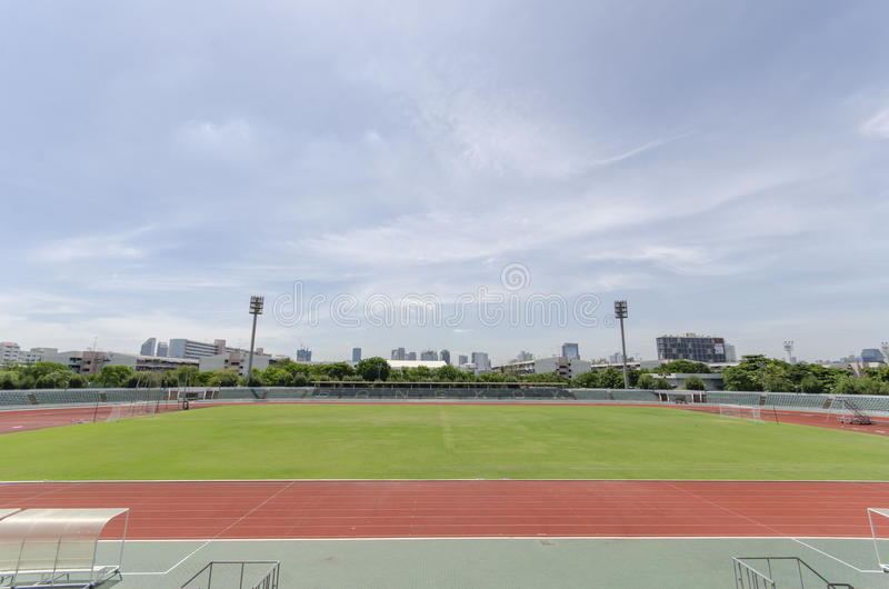 The Stadium under blue sky royalty free stock photos
