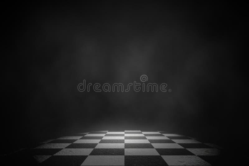 Stadium van de schijnwerper het witte rook op de het rennen vloer vector illustratie