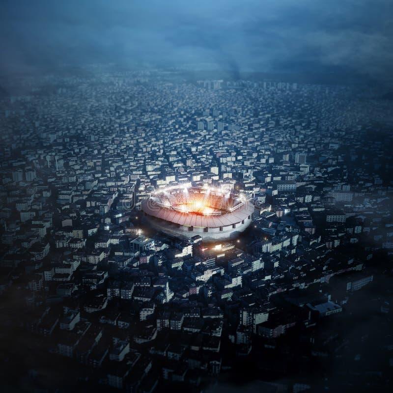 Stadium w mieście, 3d rendering ilustracja wektor