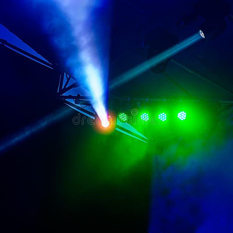 Stadiumlicht tijdens de show royalty-vrije stock afbeelding