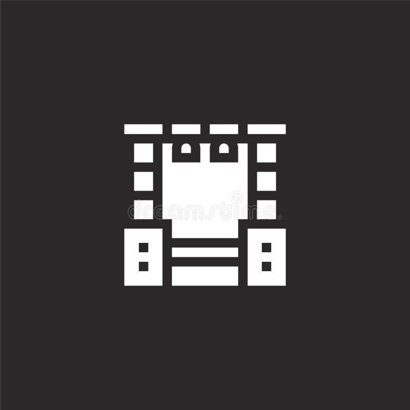 stadiumpictogram Gevuld stadiumpictogram voor websiteontwerp en mobiel, app ontwikkeling stadiumpictogram van gevulde rots - en - royalty-vrije illustratie