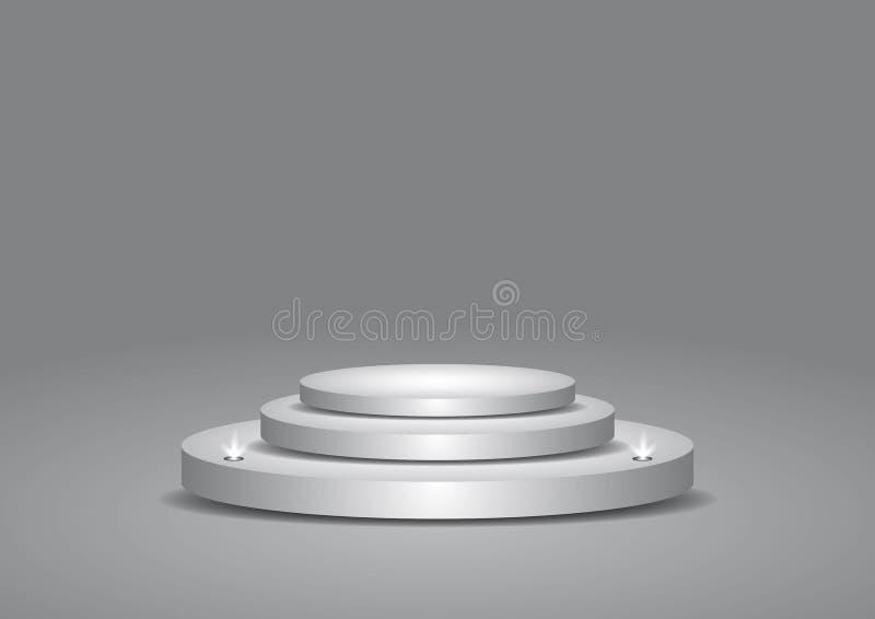 Stadiumpodium met verlichting royalty-vrije illustratie