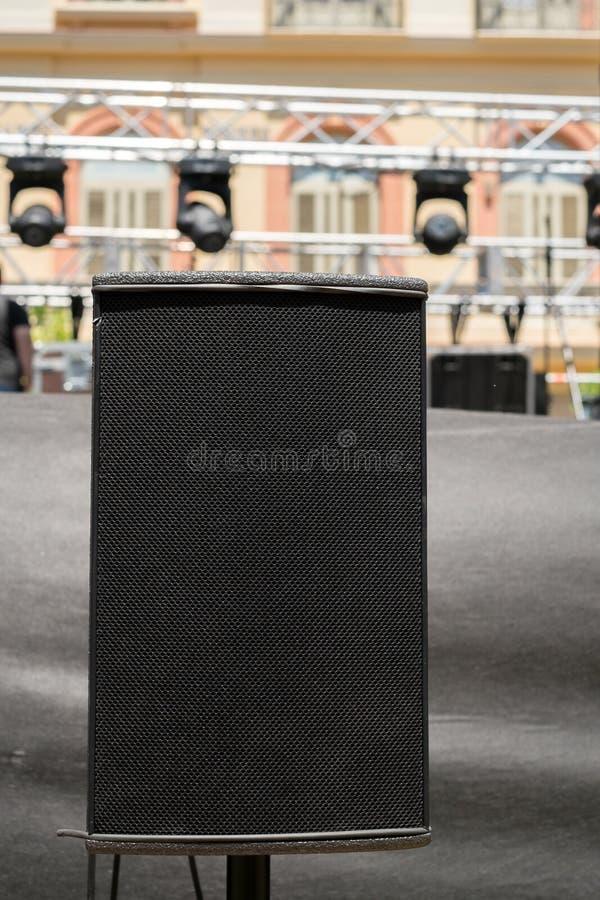 Stadiumskonzert-Audiosprecher lizenzfreie stockbilder