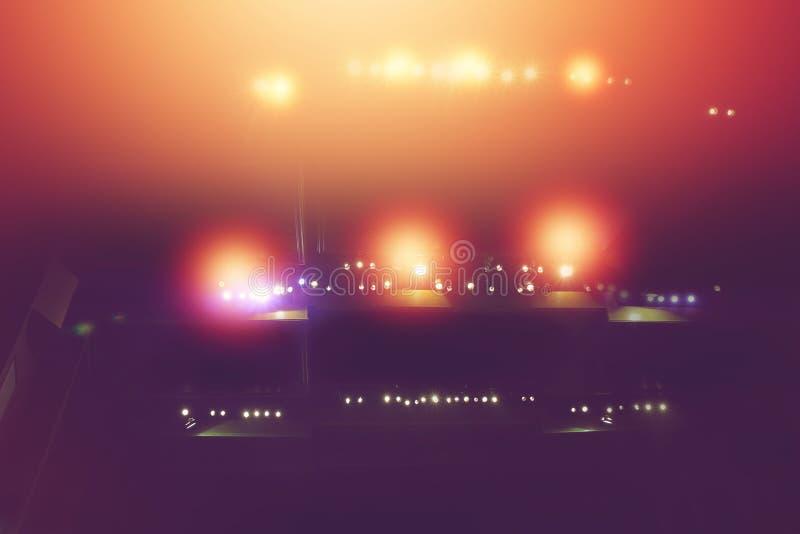 Stadiumslicht mit farbigen Scheinwerfern im Theater stockfotografie