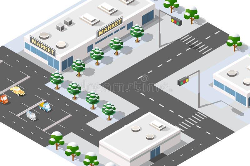 Stadområde av staden vektor illustrationer