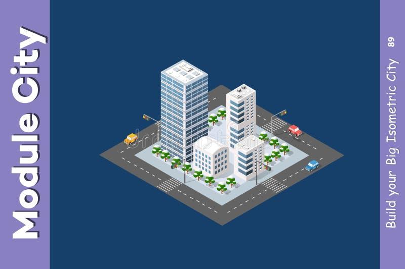 Stadområde av staden royaltyfri illustrationer
