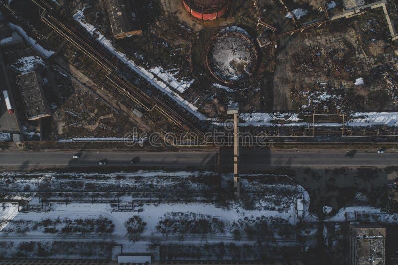 Stads- övergav fabriken arkivbilder