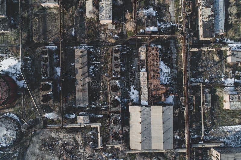 Stads- övergav fabriken royaltyfri foto