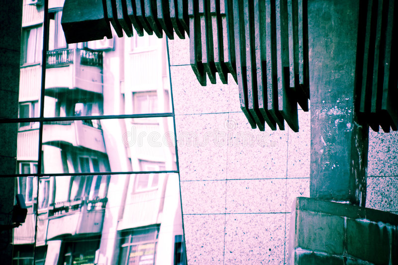 stads- abstrakt arkitektur royaltyfria foton