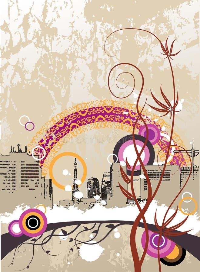 stads- abstrakt bakgrund vektor illustrationer