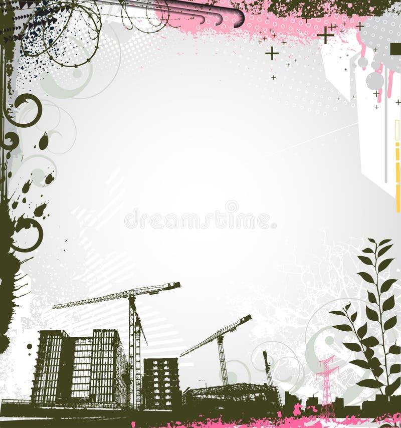 stads- bakgrund stock illustrationer